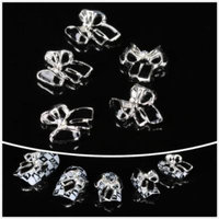 Nails gaga wholesale 100pcs White bowknot 3D Alloy Nail Art cute DIY decoration by CoCo-Shop