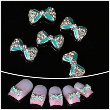 Nails gaga wholesale 100pcs Blue bow tie 3D Alloy Nail Art DIY Nail decoration by CoCo-Shop