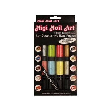 Migi Nail Art Pastel and Pearlized Pen-Brushes Fingernail Polish Kit