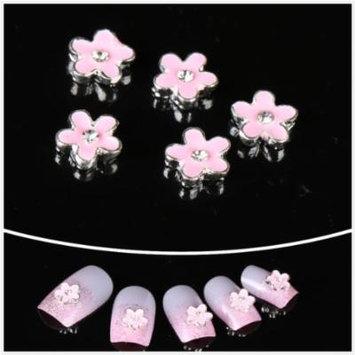 wholesale 100pcs Pink Flower 3D Nail Art