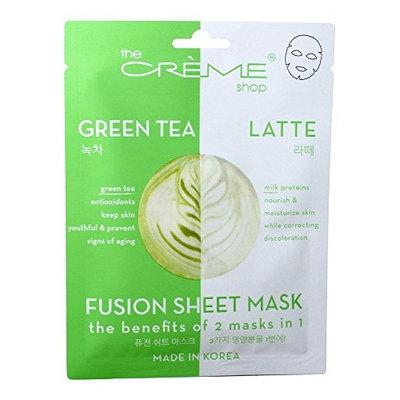 The Creme Shop - 2 in 1 Green Tea Latte Fusion Facial Sheet Mask - 1 Count