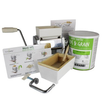 Handy Pantry Oat Rolling Kit - Make Rolled Oats for Oatmeal - Oat Groats & Roller