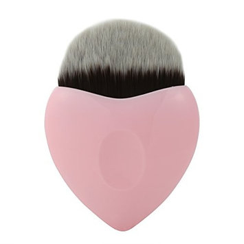 Professional Makeup Brush Heart Shaped Blusher Powder Foundation Cosmetic Concealer Tool 3 Colors