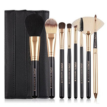 Makeup Brushes Z'oreya 8pcs Make Up Brush Set Pony Hair With Leather Bag As Essential Makeup Tools For Daily Beauty