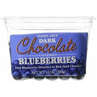 Trader Joe's Dark Chocolate Covered Blueberries - 2 PACK
