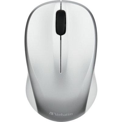 Verbatim Silent Wireless Blue LED Mouse Silver 99777