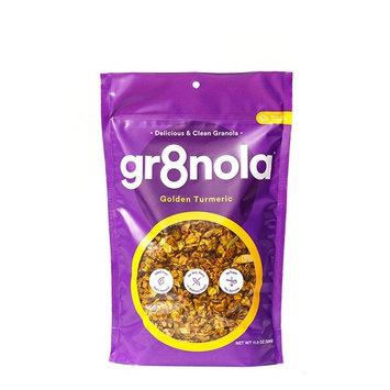 gr8nola Granola Cereal Healthy Breakfast or Snack, Non GMO, Vegan, Low Glycemic with Coconut Oil - GOLDEN TURMERIC 11.5 oz [GOLDEN TURMERIC]