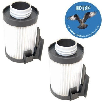 HQRP Washable Filter compatible with Eureka DCF-10 / DCF-14 / DCF10 / DCF14 Dust Cup Filter 75273-1 + HQRP Coaster (Pack of 2)