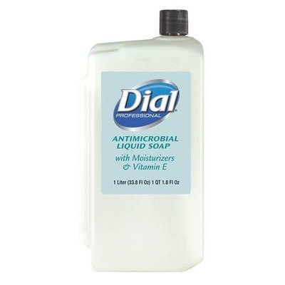 Liquid Dial? Moisturizers, Vit E Antimicrobial Soap Refill Cartridge, 1Liter