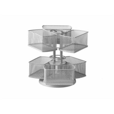 Nifty Cosmetic Organizing Carousel, Silver