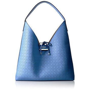 GUESS Bobbi Inside Out Hobo, Blueberry/Nude