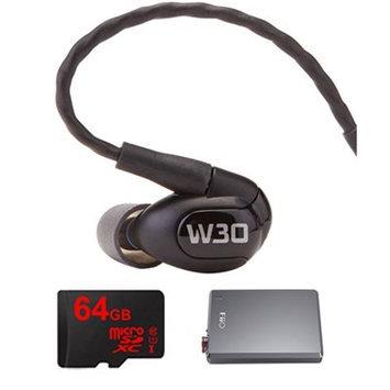 Westone W30 Triple Driver Premium In-Ear Monitor Noise Isolating Headphones w/ FiiO Amp