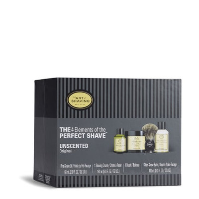 The 4 Elements Of The Perfect Shave - Unscented (New Packaging) (Pre Shave Oil Shave Crm A S Balm Brush) by The Art Of Shaving