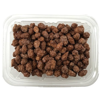 Happy Snacks Candied Almonds - Crunchy Sweetened Cinnamon Almonds Perfect for Snacking, Salads & Desserts - Resealable Tub (12 oz)