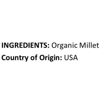 Anna and Sarah Organic Hulled Millet in Resealable Bag, 3 Lbs