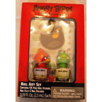 Angry Birds Nail Art Set with 44piece Nail Stickers