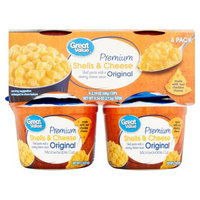 Wal-mart Stores, Inc. Great Value Original Premium Shells & Cheese, 2.39 oz, 4 pack