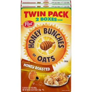 Honey Bunches of Oats Twin Pack Post Breakfast Cereal No Trans Fat or Saturated Fat, 46 Oz