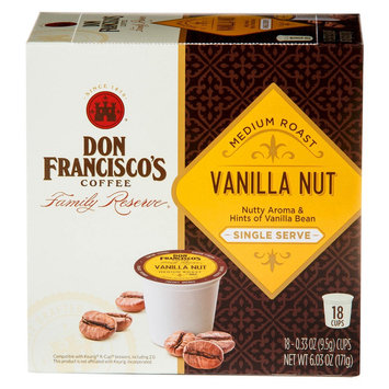Don Francisco's Vanilla Nut Coffee Single Cups 18ct