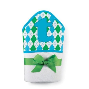 Mud Pie Initial Baby Boy Blue Initial Hooded Terry Towel, Letter D (Discontinued by Manufacturer)