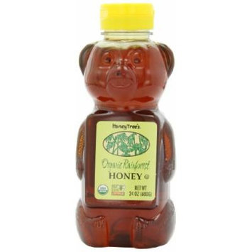 HoneyTree's Organic Tropical Honey, 24-Ounce Plastic Bears (Pack of 3)