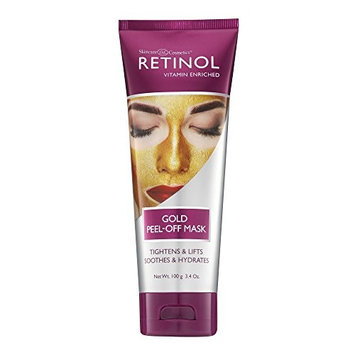 Retinol Gold Peel-Off Mask – Luxurious Treatment Tightens, Lifts, Soothes & Hydrates Skin For Luminous Finish – Real Gold Helps Firm & Brighten While Flower Extracts Nourish & Restore Youthful Texture