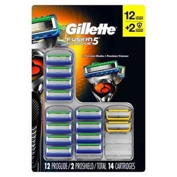 Gillette Fusion5 Proglide Cartridges, 12 Proglide & 2 Proshield (14 ct.) x2 AS
