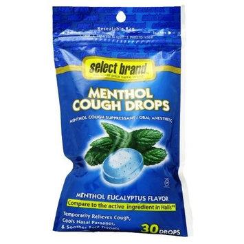 Select Brand 30 Menthol Cough Drops