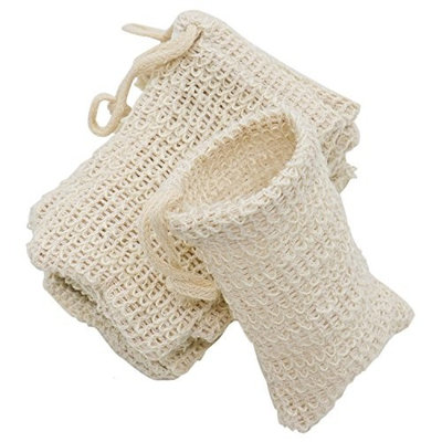 Buorsa Pack of 10 Exfoliating Natural Sisal Soap Bag Pouch Soap Saver