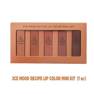 3CE MOOD RECIPE LIP COLOR MINI KIT (1 set)