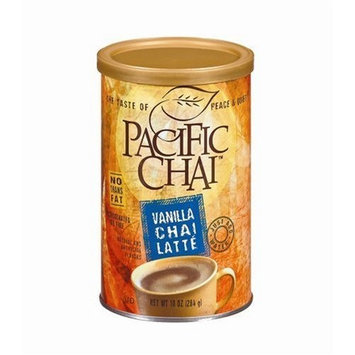 Pacific Chai Vanilla Chai Latte Mix, 10-Ounce Canisters (Pack of 6)