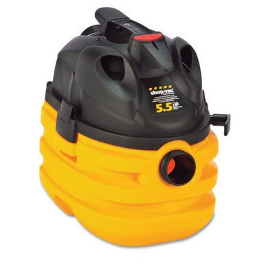 Shop Vac Shop-Vac Heavy-Duty Portable Wet/Dry Vacuum, 5 gal Capacity, 17lb, Black/Yellow