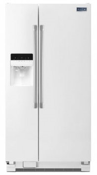 Maytag MSF21D4MDH 21.0 Cu. Ft. White Side-By-Side Refrigerator - Energy Star
