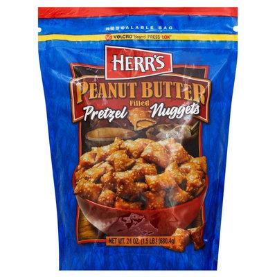 Herr's Peanut Butter Filled Pretzel Nuggets - 24 oz
