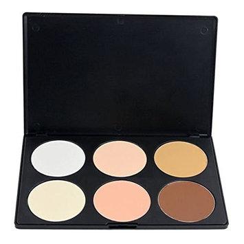 KOLIGHT Professional Professional 6 Color Contour Face Powder Makeup Concealer Palette