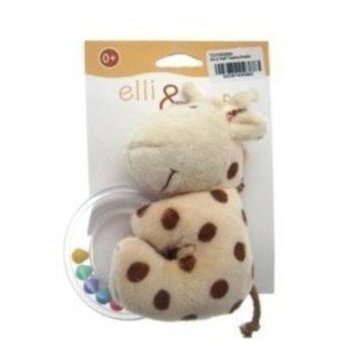 Elli & Raff Plush Baby Rattle - Teether Toy Raff- (TOY093890) [Kitchen & Home]