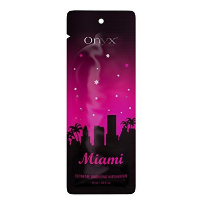 Onyx Miami Extreme Bronzing Intensifier Packet, Tanning Lotion enriched with Macadamia & Hemp Oil