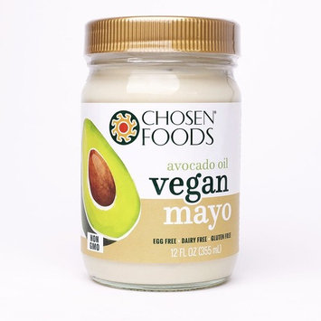 Chosen Foods 100% Pure Avocado Oil-Based VEGAN Mayo 12 oz, Egg Free, Gluten Free, Soy Free, Made with Chickpeas [1]
