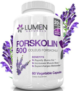 Lumen Naturals Forskolin 500mg 2X Strength 20% Standardized - Get the Insta Belly Melt - 100% Pure Coleus Forskoh