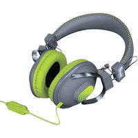 Isound Dghm-5517 Hm260 Dynamic Stereo Headphones With Microphone [gray/green]