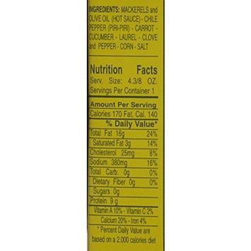 Nuri Spiced Small Mackerels in Olive Oil-salt Added. Net.wt. 4 3/8 Oz