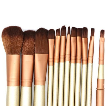BOXING Nkd3 Makeup Brush Set - Face Powder Brushes - Eye shadow Blushes Makeup Brush Kit (12 Pcs) Professional Premium Synthetic Makeup Brush Set