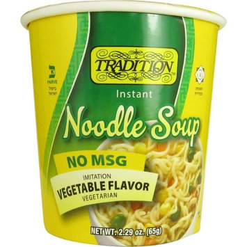 Tradition Cup of Soup, Vegetable Flavor, No MSG Pack of 12 [No MSG Vegetable Flavor]