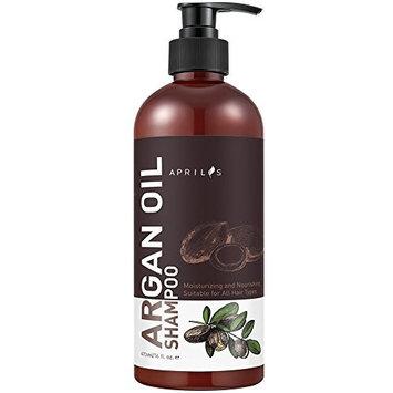Aprilis Organic Moroccan Argan Oil Shampoo, Nourishing, Moisturizing & Volumizing Shampoo with Keratin for Women and Men, for Colored and All Hair Types, 16 fl. oz