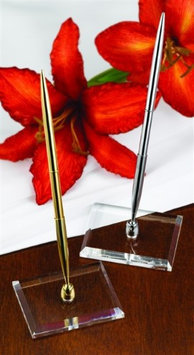 Hortense B. Hewitt 22924 Lucite Gold Tone Pen Set