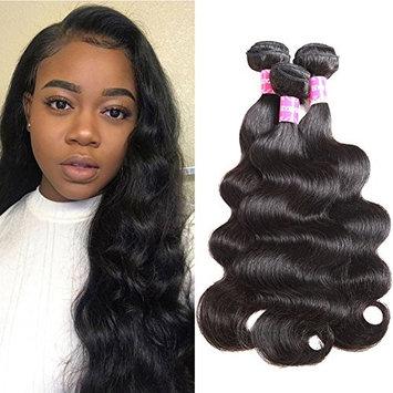 Encii Peruvian Virgin Hair Body Wave 3 Bundles 14 16 18 Total 300g Grade 8A Unprocessed Body Wave Peruvian Virgin Weave Hair Human Bundles Natural Black Color Peruvian Human Hair Bundles Body Wave
