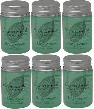 Ecossential Elements Body Wash Lot of 6 each 1.1oz Bottles.6oz (Pack of 6)