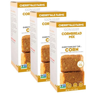 Cherryvale Farms, Cornbread Corn Muffin Baking Mix, Everything But The Corn, Vegan, Dairy-Free, Non-GMO, 15 oz (pack of 3)