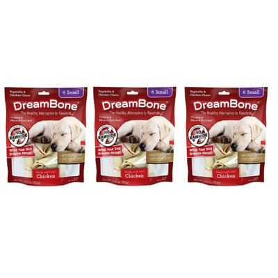 DreamBone Chicken Dog Chew, Small, 6-count (3 pack)