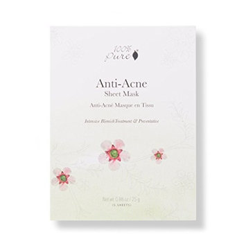 100% PURE Sheet Mask: Anti Acne: Box 5 pack